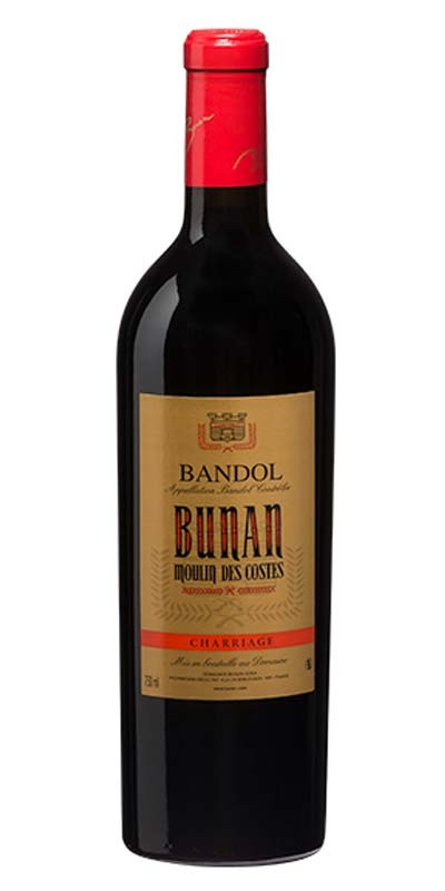 Domaine Bunan cuvée Charriage Moulin des Costes - vin Bandol rouge 2014