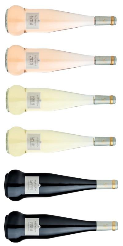 Château Ste Roseline - Carton Dégustation - 6 vins de Provence - Lampe de Méduse - rosé, blanc, rouge