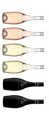 Roseline Diffusion - Carton dégustation - 6 vins de Provence - Roseline Prestige - rosé, blanc, rouge