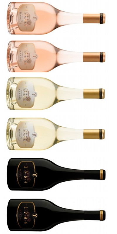 Château Margüi - Carton Dégustation Bastide 1784 - 6 vins de Provence - rosé, rouge, blanc