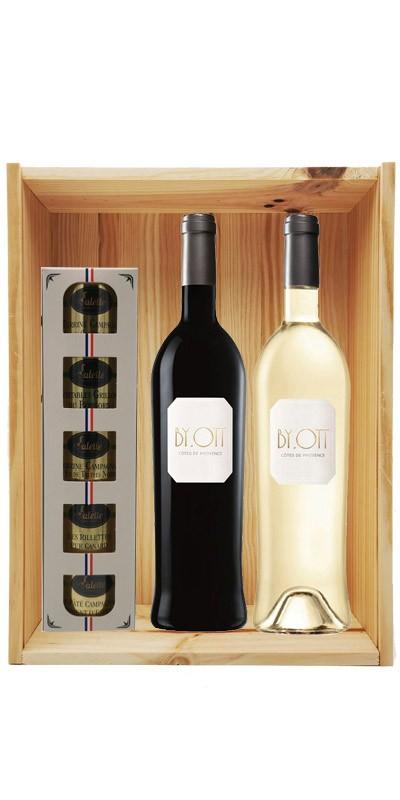 Coffret cadeau bois vin Provence By Ott Personnalisé + Ecrin Sarladais
