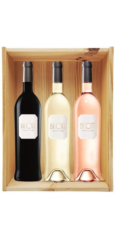 Coffret cadeau bois vin Provence By Ott Personnalisé