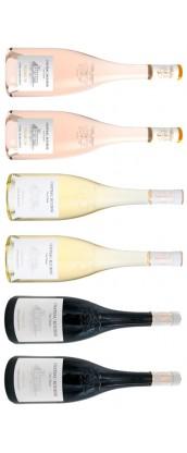 Roubine - Carton dégustation - Premium 6 vins de Provence : rosé, blanc, rouge.